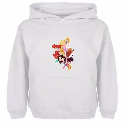 Boys Girls Hoodies Sweatshirt Pullover Cute Funny Disney Princess Kids Gift Tops