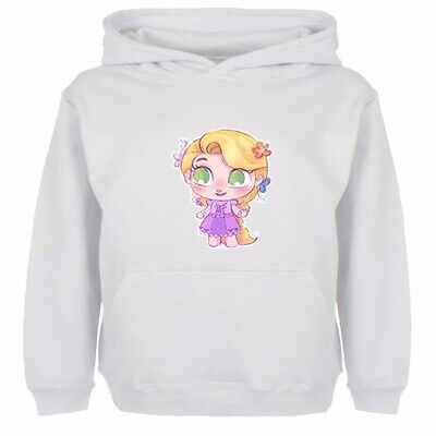 Boys Girls Hoodies Sweatshirt Pullover Disney Princess Petite Punzie Kids Tops