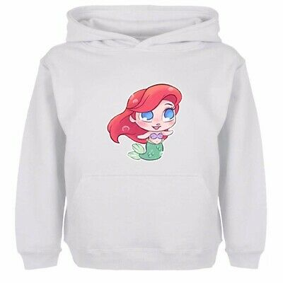 Boys Girls Hoodies Sweatshirt Disney Princess The Little Mermaid Ariel Kids Tops