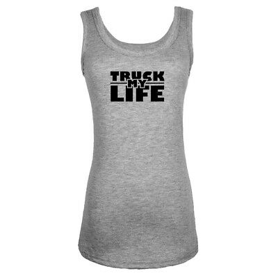 Womens Girls Sports Vests Sleeveless Truck is my Life Design Graphic Tank Tops
