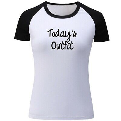 Today's Outfit Design Womens Girls Casual T-Shirts Print Graphic Tops Tee Shirts