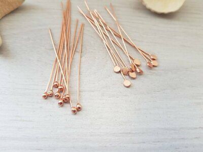 20 Genuine Copper Ball Head Pins | Mixed Pack | Handmade To Order