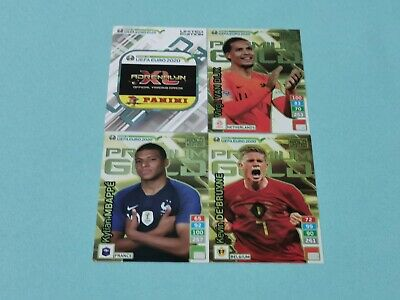 Panini Road to Uefa Euro 2020 Adrenalyn XL Set 7 - 4 x Limited Edition Gold