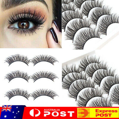 10 Pairs 3D Mink Handmade Fake Eyelashes Natural Long Wispy Makeup False Lashes