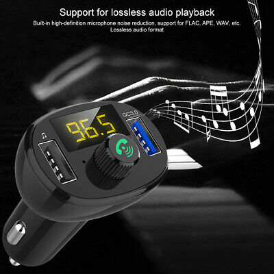 Bluetooth Wireless LCD for Car MP3 Player FM Transmiter USB Quick Charging Kit