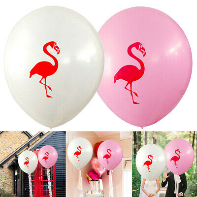 Lot Of 10 50 Tropical Flamingo Latex Balloons Hawaii Beach Birthday Party Decor