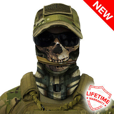 Salt Armour SA Face Shield Calavera Skull Pattern New in package