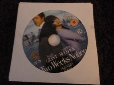 Two Weeks Notice (DVD) SANDRA BULLOCK*HUGH GRANT*ALICIA WITT**DISC ONLY**