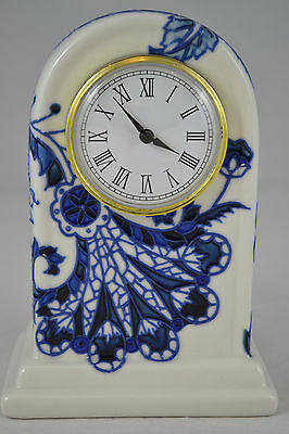 Old Tupton Ware - Mantle Clock - Blue Sapphire Design - New And Boxed