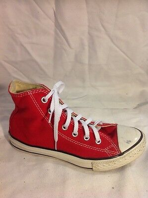 Girls Converse Red Sneakers Size 2