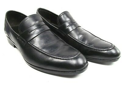 8aac0d717126 Saks Fifth Avenue Black Penny Loafers Slip On Dress Shoes Mens Size 9.5 M