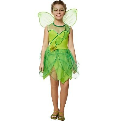 Girls' Forest Princess Costume Leaf Fairy Woodland Nymph Tinkerbell Fancy Dress