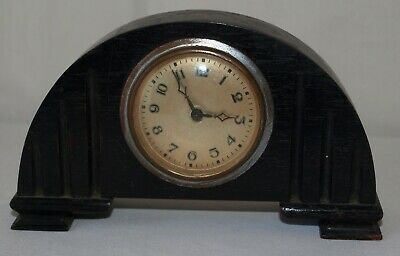 Small Vintage Ebony Mantle Clock - Spare & Repairs