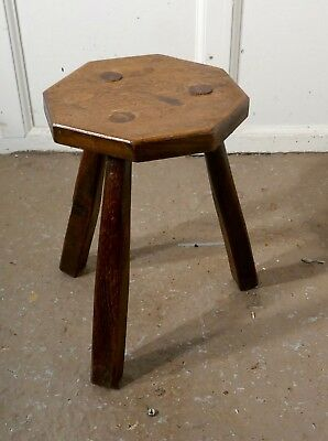 Elm Milking Stool or Dairy Stool