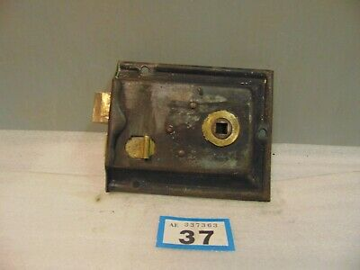 Antique  Brass And Steel Rim Door Lock  37