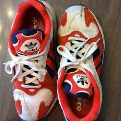 new arrival c5a17 57394 Adidas yung-1 Chalk white red navy blue euc 41.5 b37615