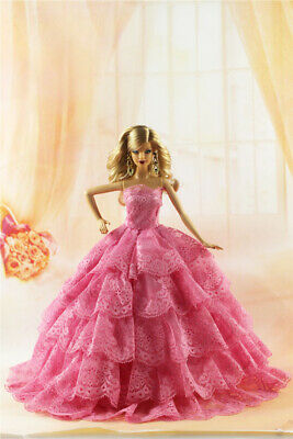 Fashion Party Princess Dress Wedding Clothes/Gown For 11.5 inch Doll #35