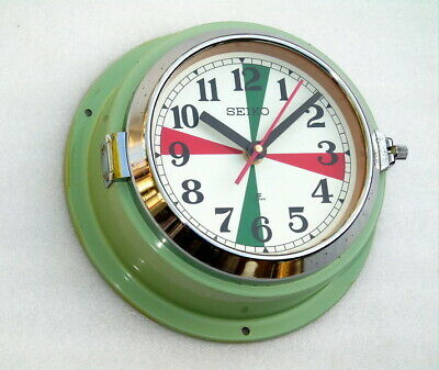 Vintage Large 8.5 Inch Seiko Japan Ships Boat Yacht Quartz Clock Seikosha Watch