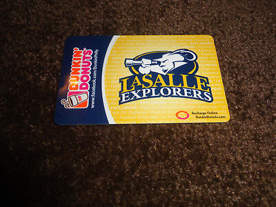 Dunkin Donuts gift card no value cover: La Salle Explorers NEW