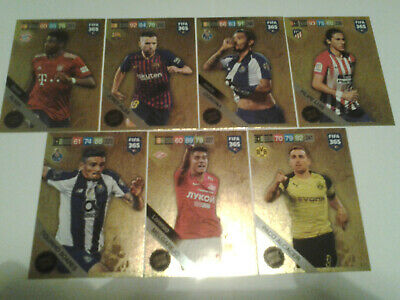 Panini Adrenalyn XL Fifa 365 2018-2019 Rare Update Limited Edition Cards