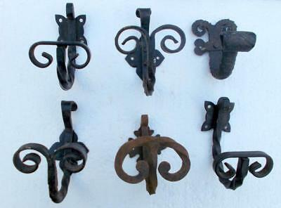 6 Various French Shabby Chic Metal Wall Hooks