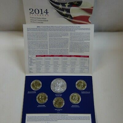 2014 Us Mint Annual Uncirculated Dollar Coin Set
