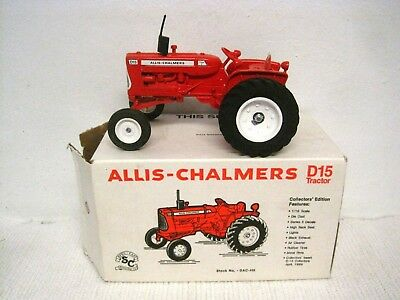 1989 Spec Cast Allis Chalmers D15 Flat Fender Collectors Tractor 1:16 w/Box