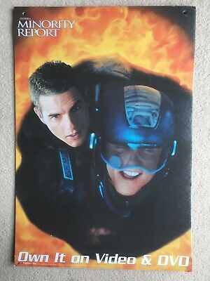 Very Rare - Minority Report - In-Store Promotional Hanging Cards - Tom Cruise