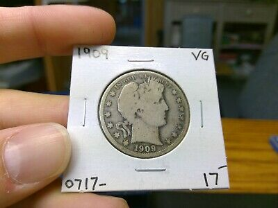 1909 P BARBER HALF DOLLAR 50C VG F +++ US 90% Silver 1909-P Priced To Sell #B