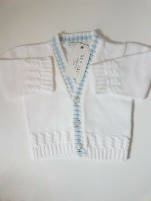 Baby Boys Zip Zap Cardigan 1 Month, 3 Months, 6 Months Available £10.99