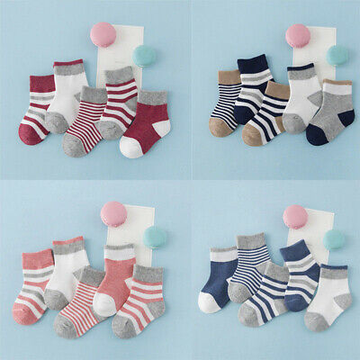 5Pairs Baby Boy Girl Cartoon Cotton Socks NewBorn Infant Toddler Kid Soft Sock