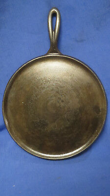 "Pre Griswold ""ERIE"" No.9 Cast Iron Round Handle Griddle P/N 739"