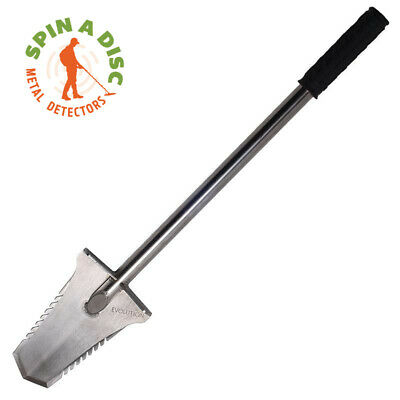 Evolution Long Handled Stainless Trowel With Teeth