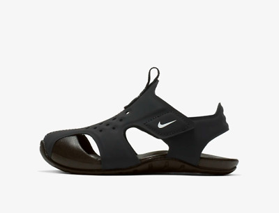 f89b385313c9 New Nike Baby Sunray Protect 2 Toddler Sandals (943827-001) Black   White