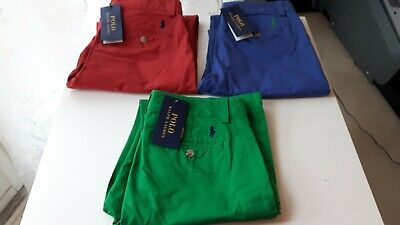 BNWT Polo RALPH LAUREN Boys Blue Chinos Trousers with Pony Size 16 Yrs 160/68