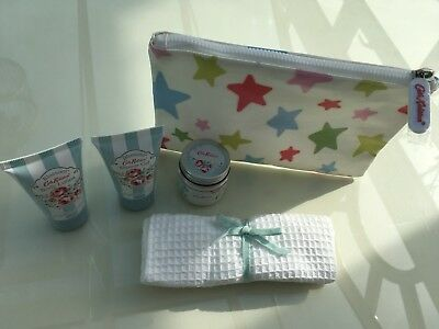 Authentic Cath Kidston Cosmetic Bag + Travel Body Lotion Bath Salts Shower Gel