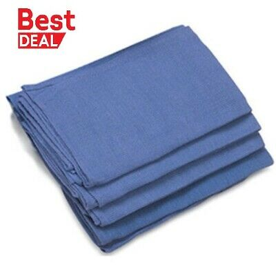 50 New Blue Glass Cleaning Huck/ Surgical/Shop And Detailing Towels Mtx*Stwl