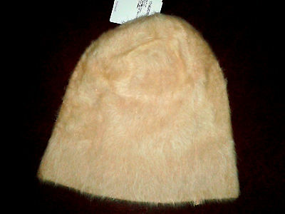 Gorgeous Topshop One Size Ultra Furry Cream Beanie Hat BNWT £18 in Store