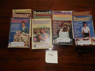 Lot of 10 Vintage Issues (1984) The WORKBASKET Magazine