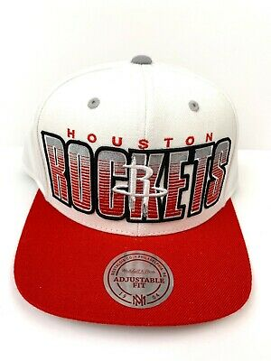 low priced 243f2 1c142 Houston Rockets Cap Official NBA Classic Hat Snapback Vintage Mitchell    Ness
