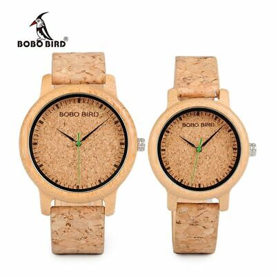 Watches Wooden Lovers Timepieces Handmade Cork Bamboo Woman Man NEW BRAND 2020