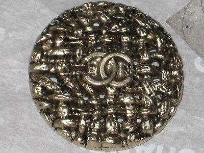 Chanel Auth. 1 Cc Logo  Antique Gold   Button  24 Mm /Over 1'' New