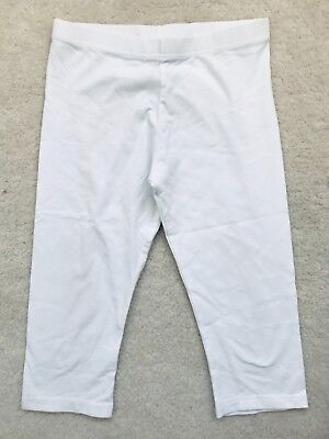 Girls White Cropped Length Leggings Age 10 years from Next