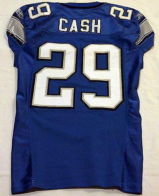 bdef1b7be98 #29 Chris Cash of Detroit Lions NFL Locker Room Game Issued & Worn Jersey