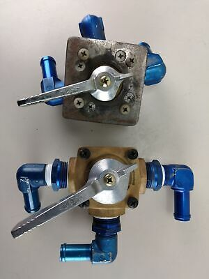 Pair of Republic Mfg. Co. 3-Way Plug Valves