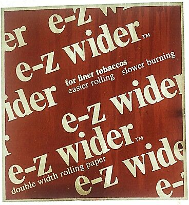 Original E-Z Wider Rolling Papers Double Wide Iron On Transfer Weed Marijuana