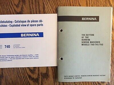 Bernina sewing machine Model 740 VINTAGE service repair manual & Parts catalog