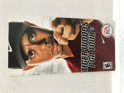 Tiger Woods PGA Tour PSP Sony Playstation Portable Manual Insert ONLY