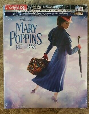 Mary Poppins Returns 4K UHD + Blu-ray + Digital Target Exclusive With Book NEW