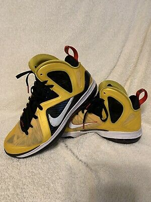 low priced c41b1 fe6bc Nike LeBron 9 IX PS Elite Taxi Yellow flywire Sz 12  516958 700